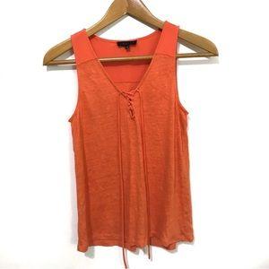 Sanctuary Vibrant Orange Linen Top